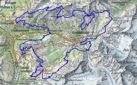 Eiger Karte